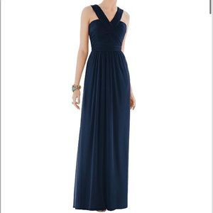 Alfred Sung Style D678 Navy Bridesmaid Dress